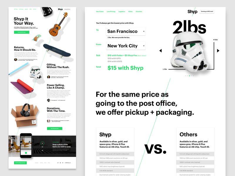 Shyp Com Pricing And Use Cases Web Design Modern Web Design Use Case