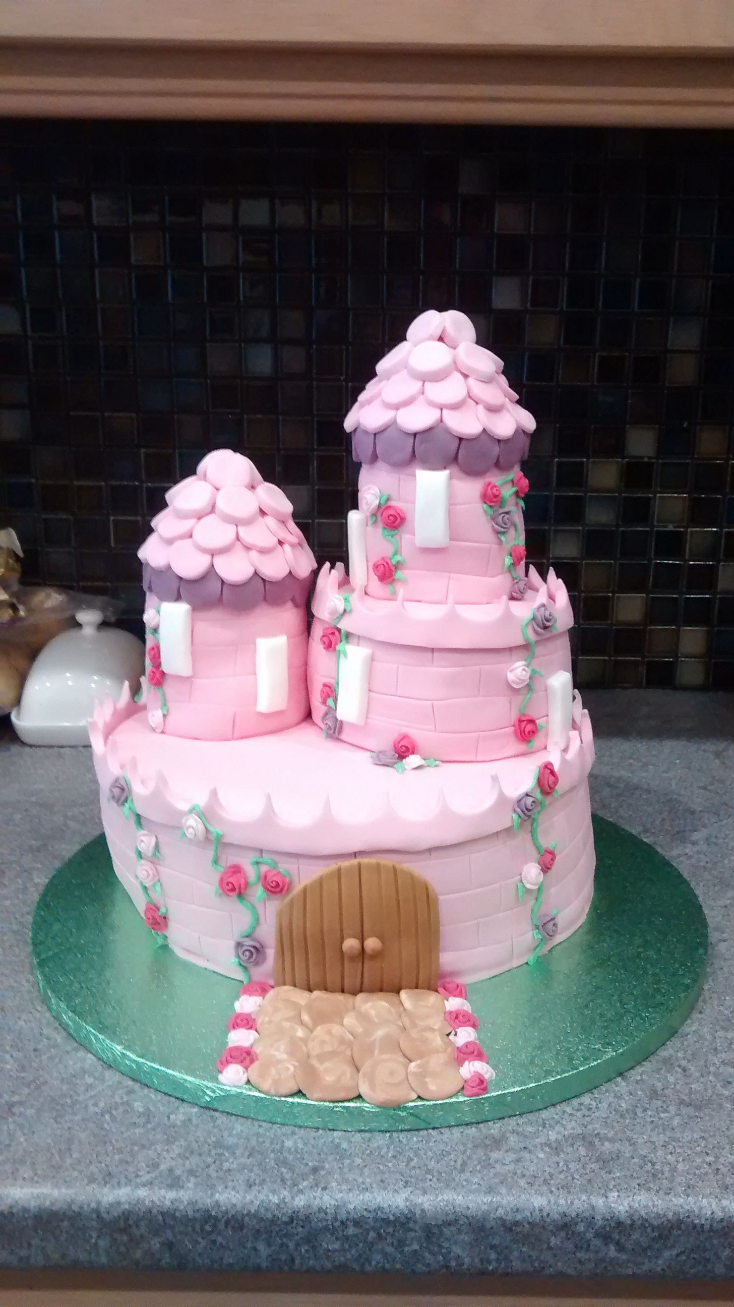 Princess castle cake by Amber Mitchell