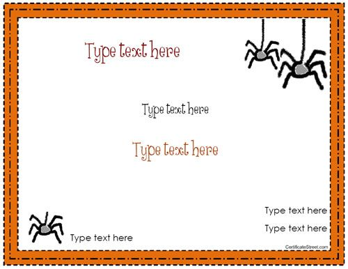 Blank certificate halloween certificate template blank certificate halloween certificate template certificatestreet yadclub Image collections