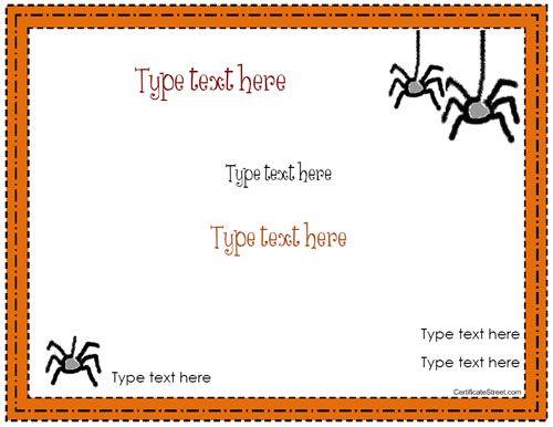 Blank certificate halloween certificate template blank certificate halloween certificate template certificatestreet yadclub Choice Image