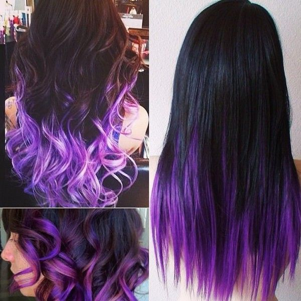 How to go from dark hair to pastel color in one set of hair how to go from dark hair to pastel color in one set of hair extensions black purple colorful hair styles in straight or wavy with colorful hair extensions pmusecretfo Choice Image