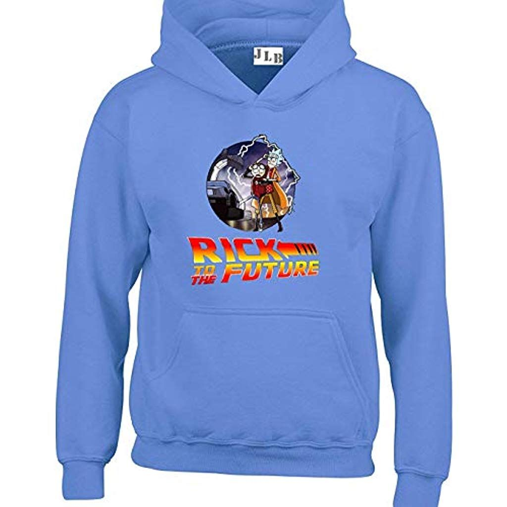 JLB Print Rick to The Future US Comedy Animation Inspired Premium Quality Unisex Hoodies for Men Women and Teens CardigansSweatshirts