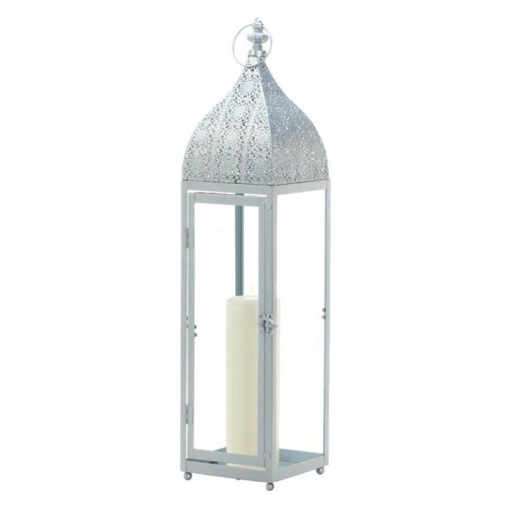 Large Silver Moroccan Style Lantern Galleryoflight Moroccan