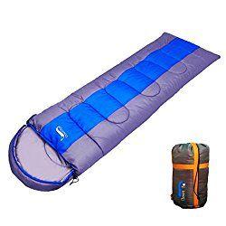 Zarae Waterproof Camping Envelope Sleeping Bag with Compression Bag 3.52LB (single) Suitable for 3 Season $25.99