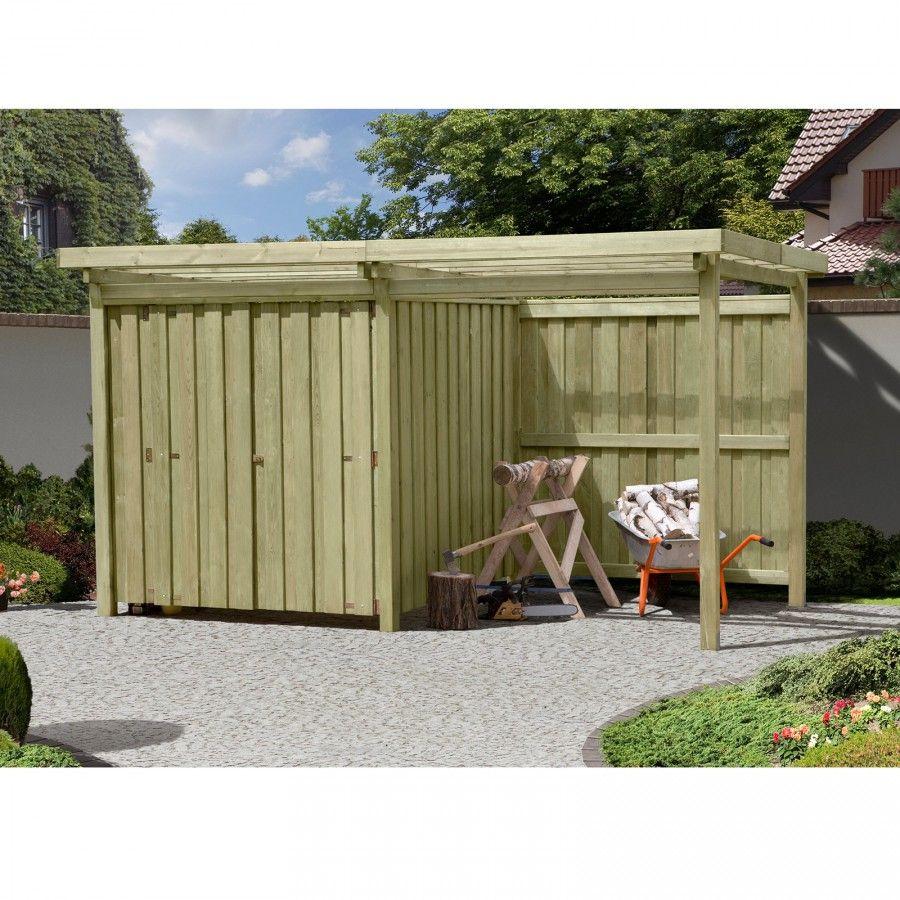 Gartenschuppen Aus Holz Typ 2 Mit Flachdach 408 X 254 Cm Brennholz Flachdach Gartenhaus Garten Kaufen