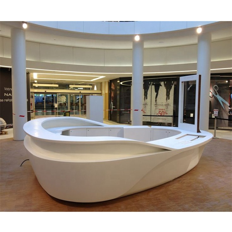 Curved Office Reception Desk