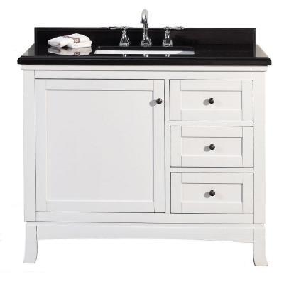 Ove Decors Sophia 42 In W X 21 In D Vanity In White With Granite