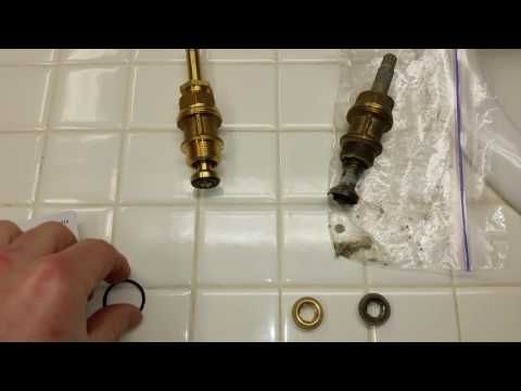 Broken Old Faucet Valve Stem Amp Missing Rubber Washer Fixing