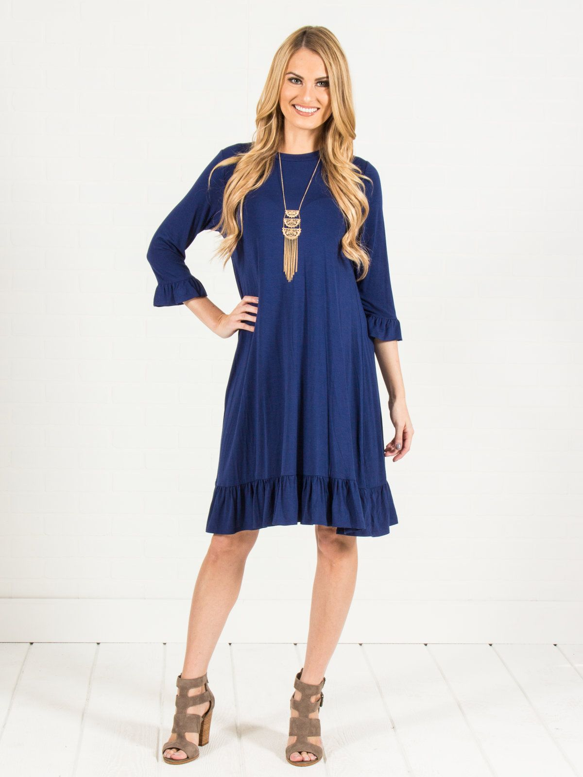 Ruffled midi dress new colors