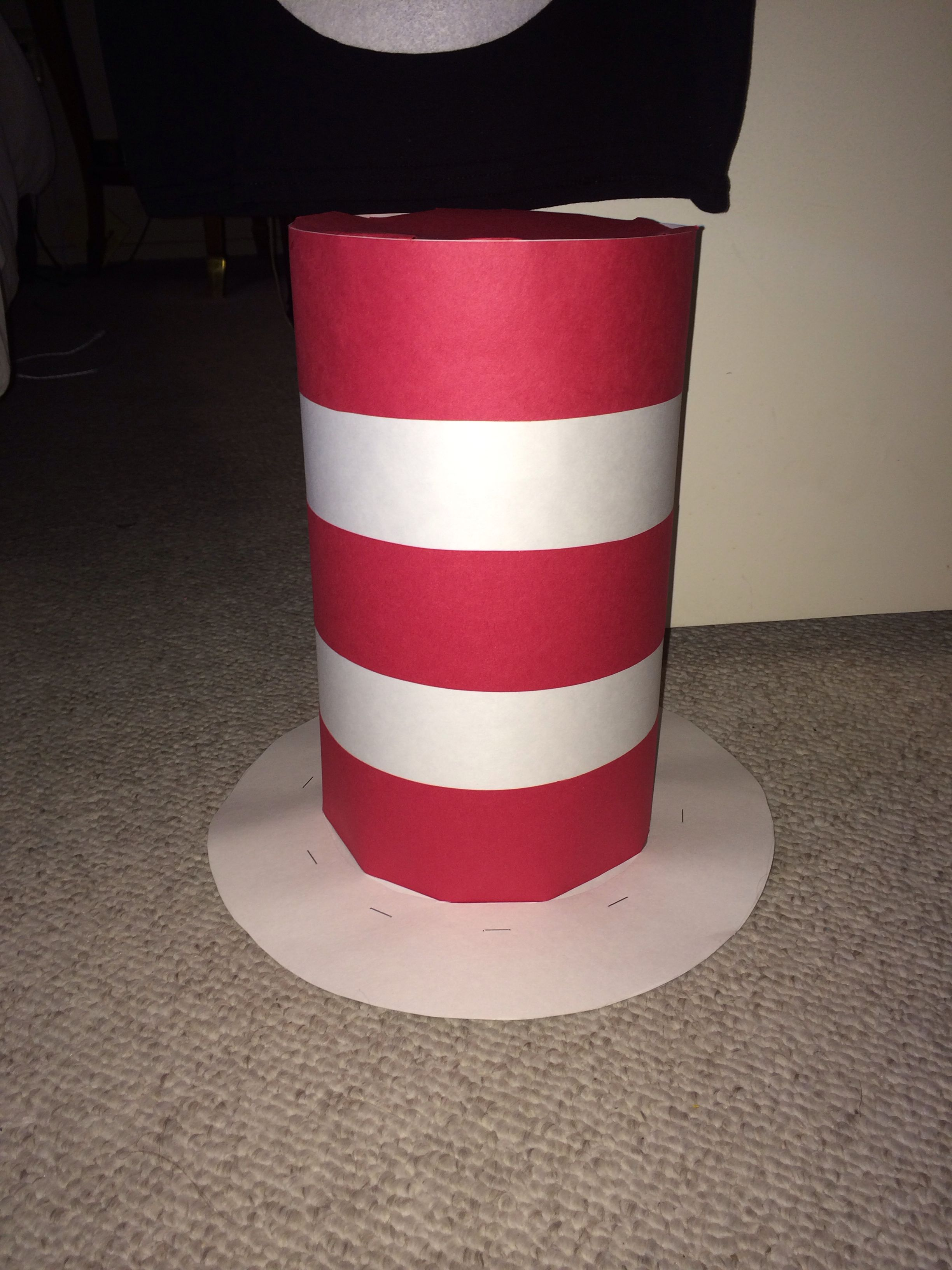 Dr seuss cat in the hat hat made out of heavy duty
