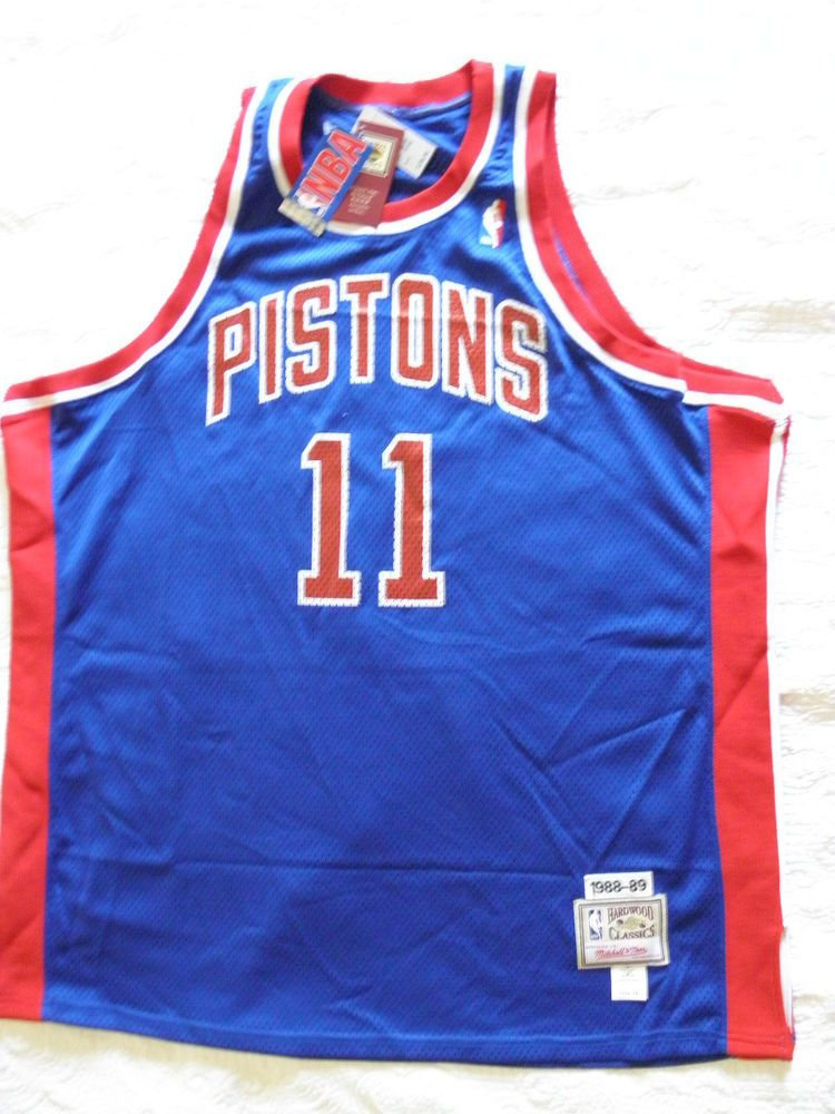 Mitchell Ness M N Detroit Pistons Isiah Zeke Thomas jersey NWT 56 3XL NEW  Blue (eBay Link) 40d4096da