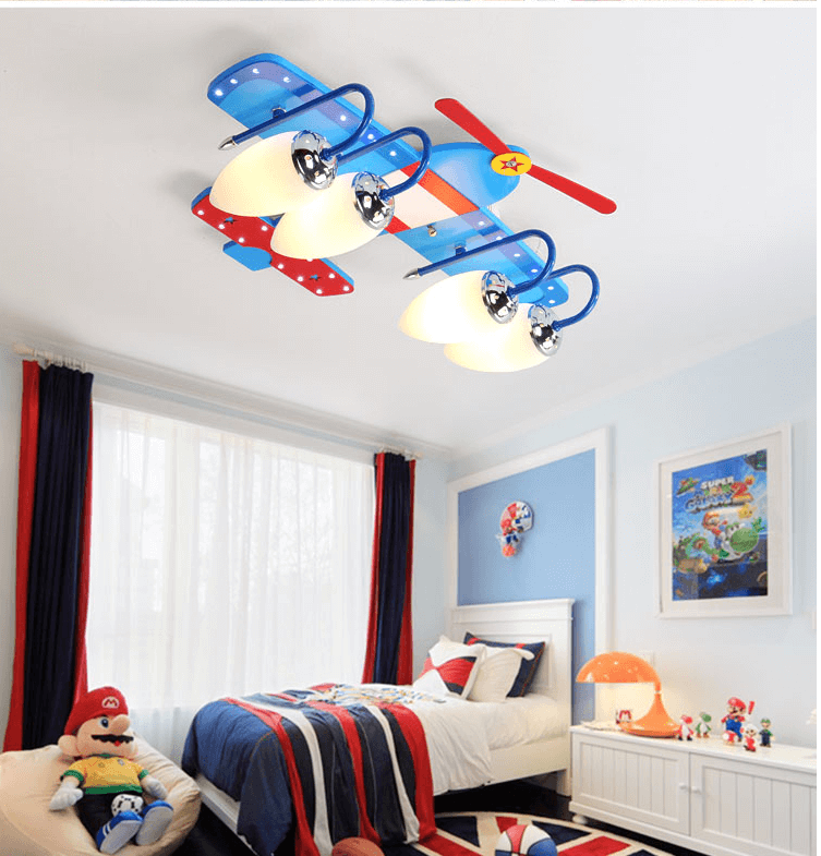 Led Ceiling Lamp Creative Cartoon Children S Room Led Airplane Lamp Boy Room Lighting Room Lights Boy Room Kid Room Style
