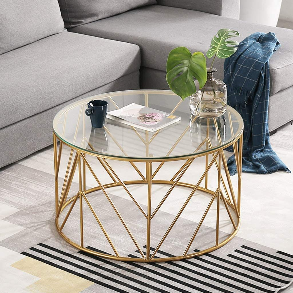 Sunbaobao Round Coffee Table Glass Table Glass Top Table Tempered Glass Table Top [ 1024 x 1024 Pixel ]