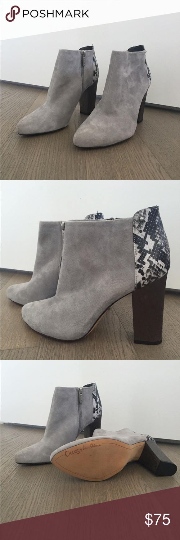 Circus by Sam Edelman gray booties  ! BRAND NEW gray suede boots. Size 8. Goes with just about any piece of clothing. Sam Edelman Shoes Ankle Boots & Booties