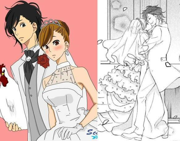 haru amp shizukus wedding tonari no kaibutsukun �����