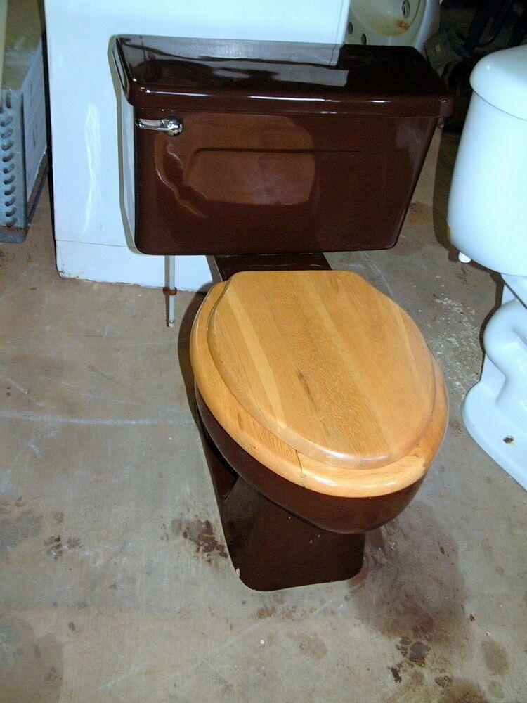 Vintage Chocolate 1970 S Kohler Toilet S 2 23 Dark Brown Color Kohler Dark Brown Color Toilets For Sale Kohler Toilet