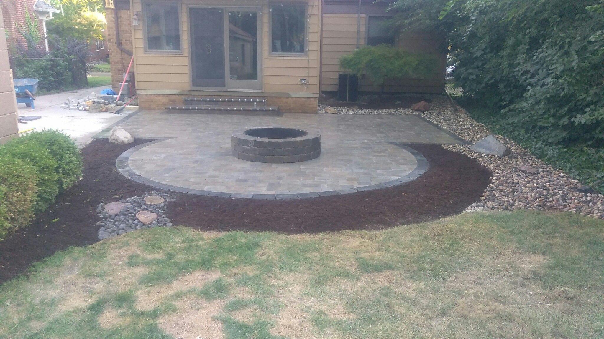 like the corner square fire pit idea backyard ideas pinterest