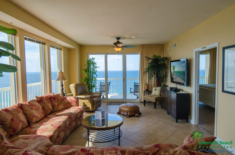 Beautiful View From Living Room Panama City Beach Fl Panama City Beach Beach Condo Rentals