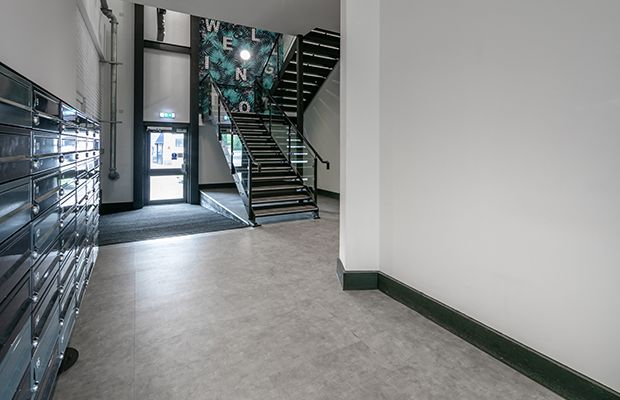 Creation 55 in Sweet Cloud at W2 offices, Cardiff. #LVTFlooring #VinylFlooring