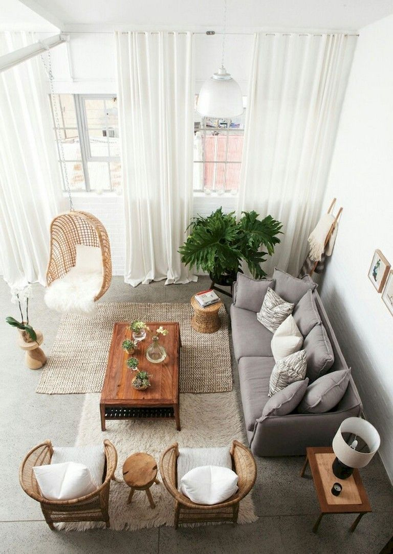 43 Stylish Bohemian Living Room Ideas For Your Home images