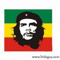 Che Guevara With Rasta Colour Flag Tattoo