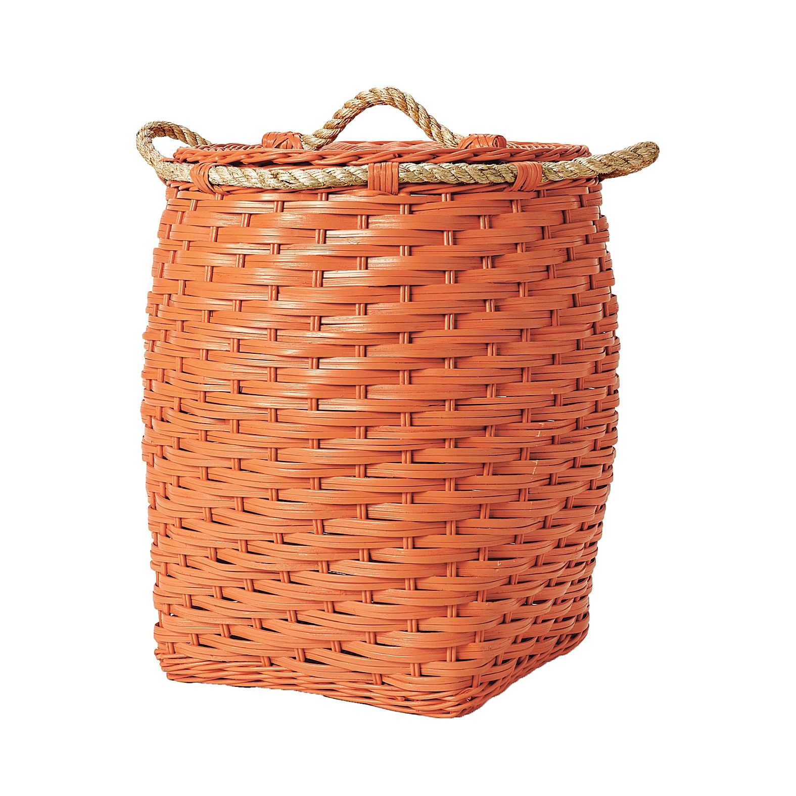 Rope Bin Collection Orange Serena Lily With Images Baby Storage Kids Storage Basket