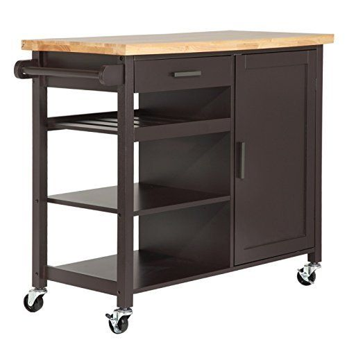 Giantex Mobility Kitchen Trolley Cart Shelf
