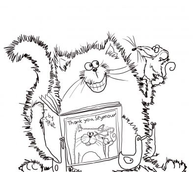 Splat the Cat Says Thank You   Splat the Cat   Pinterest   Coloring ...