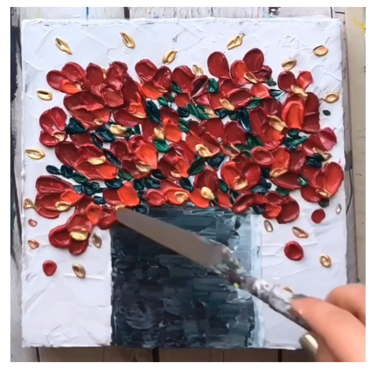 palette knife painting tutorial step by step