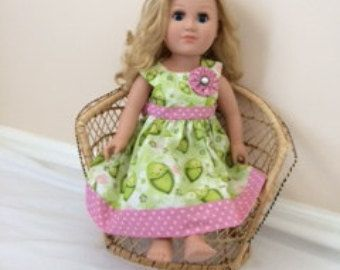 vintage doll dress by WandabugCreations on Etsy