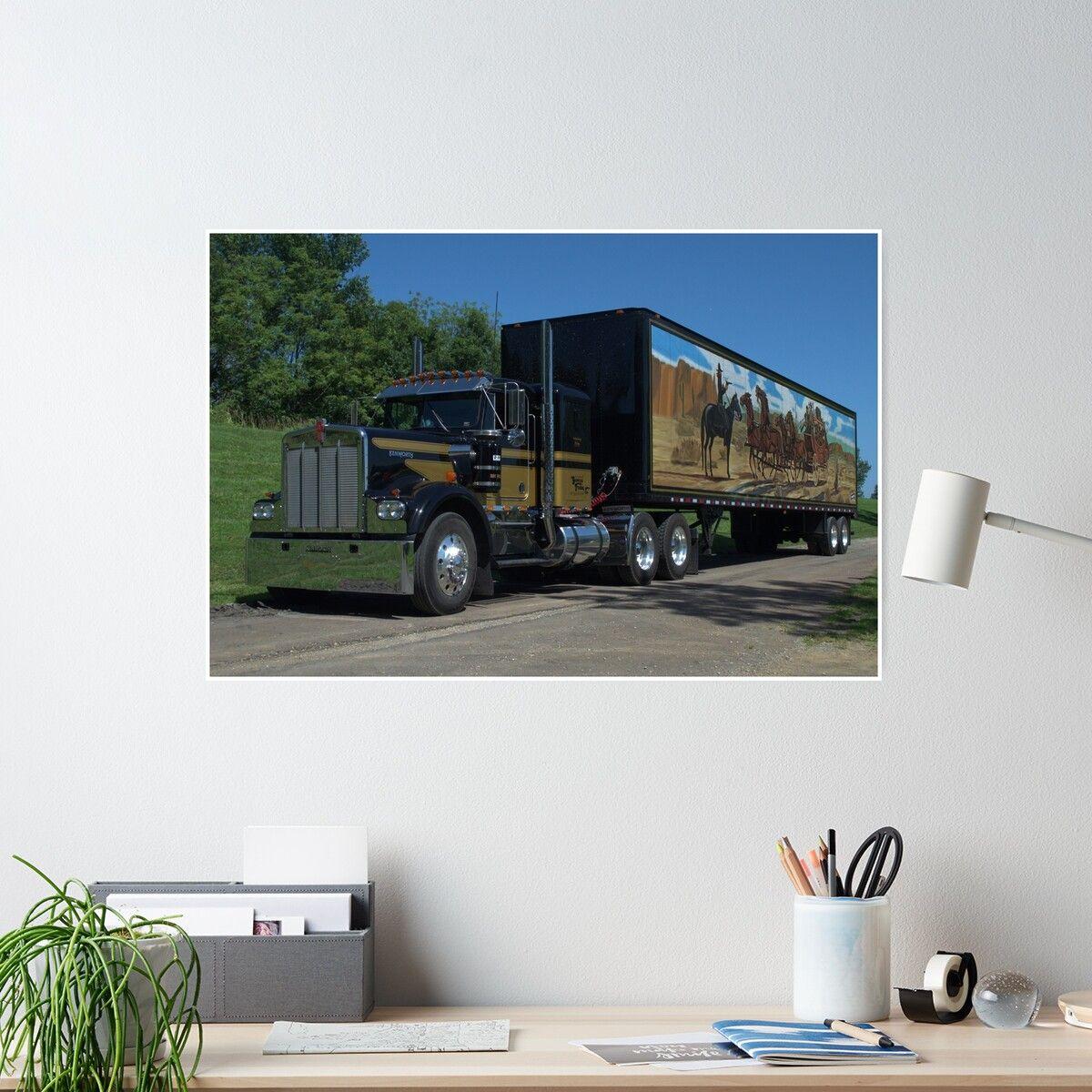 Smokey The Bandit Tribute Kenworth Semi Truck Poster In 2020 Kenworth Smokey And The Bandit Semi Trucks