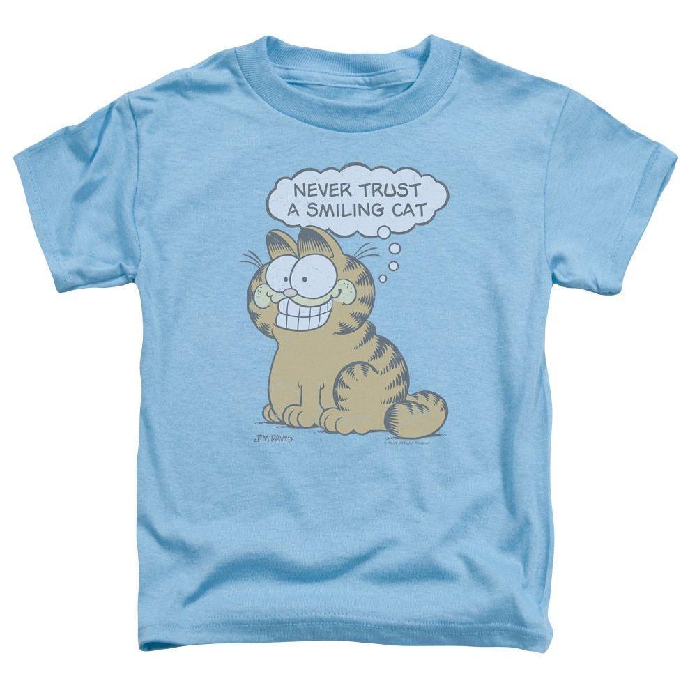 Garfield/Smiling Cat Short Sleeve Toddler Tee in Carolina , Toddler Boy's