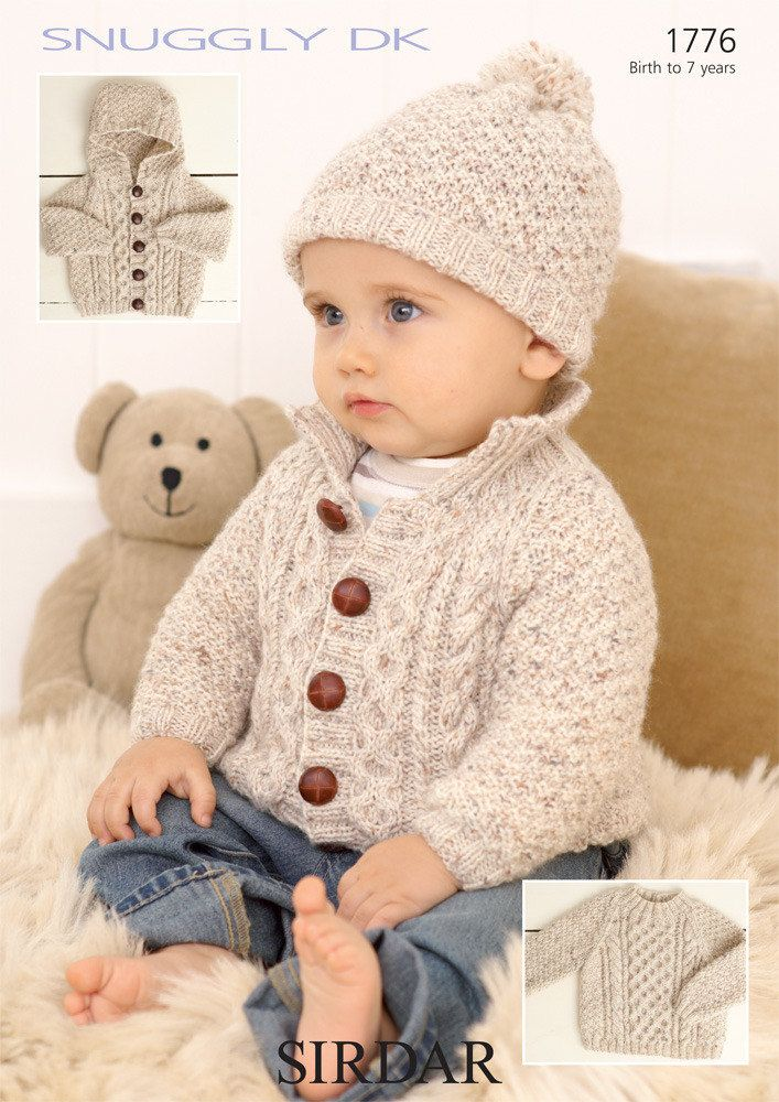 Sweater Jackets And Hat In Sirdar Snuggly Dk 1776