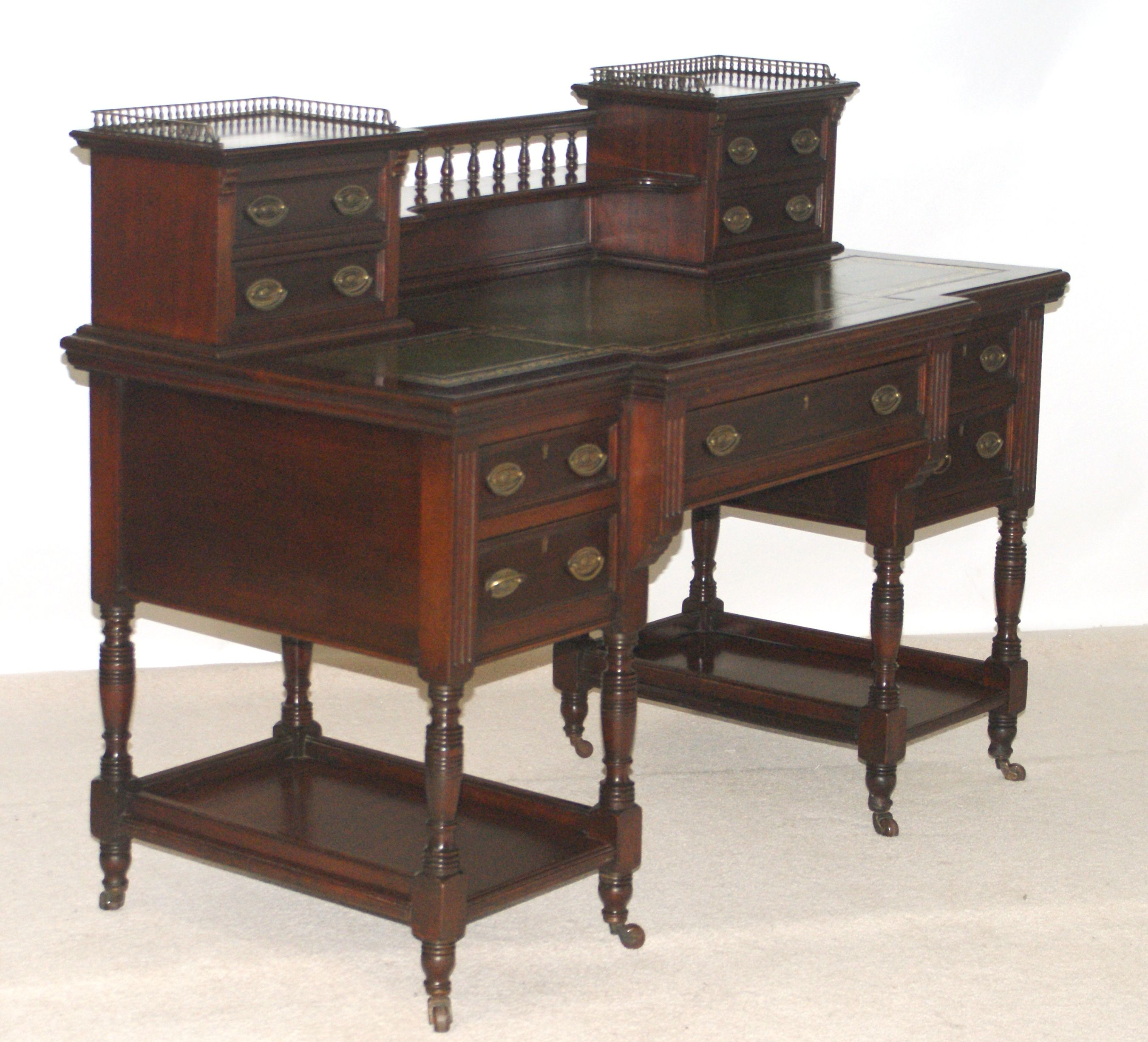 Late Victorian writing desk by Maple and Co not really