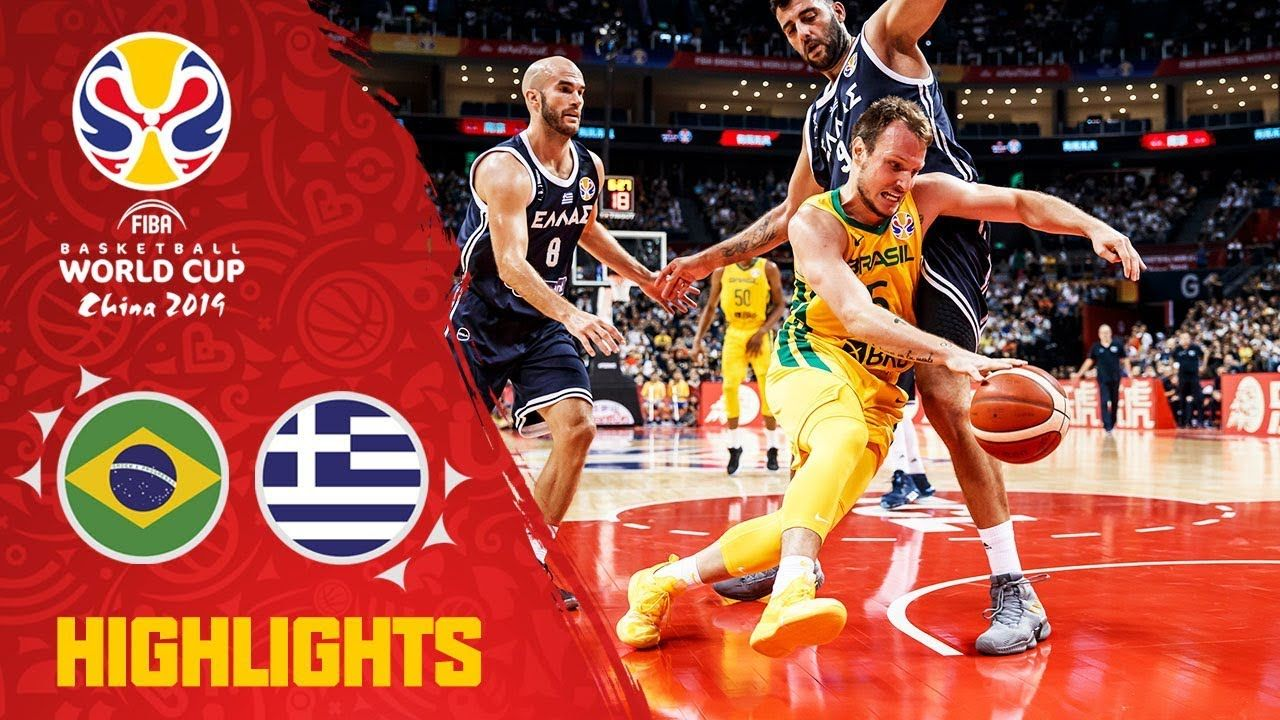 Brazil V Greece Highlights Fiba Basketball World Cup 2019 Youtube Fiba Basketball Basketball World Cup