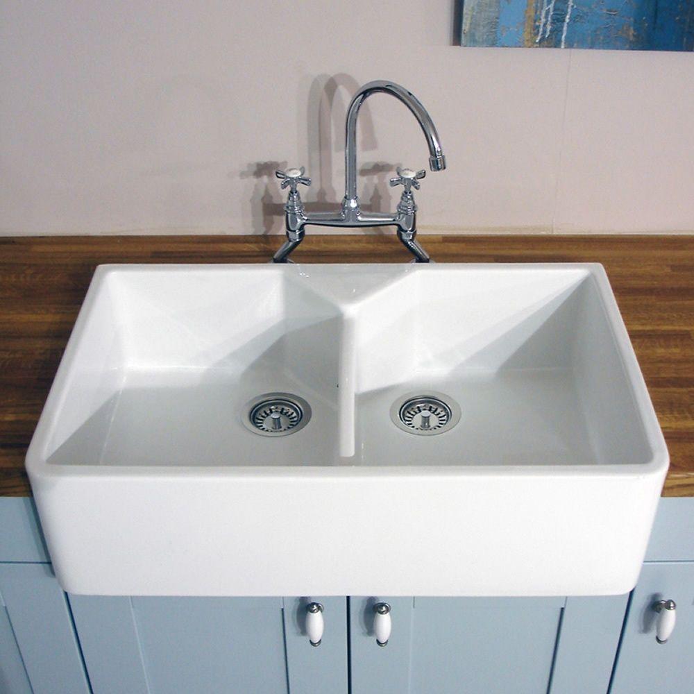 Ceramic Kitchen Sinks White Sink Single Basin