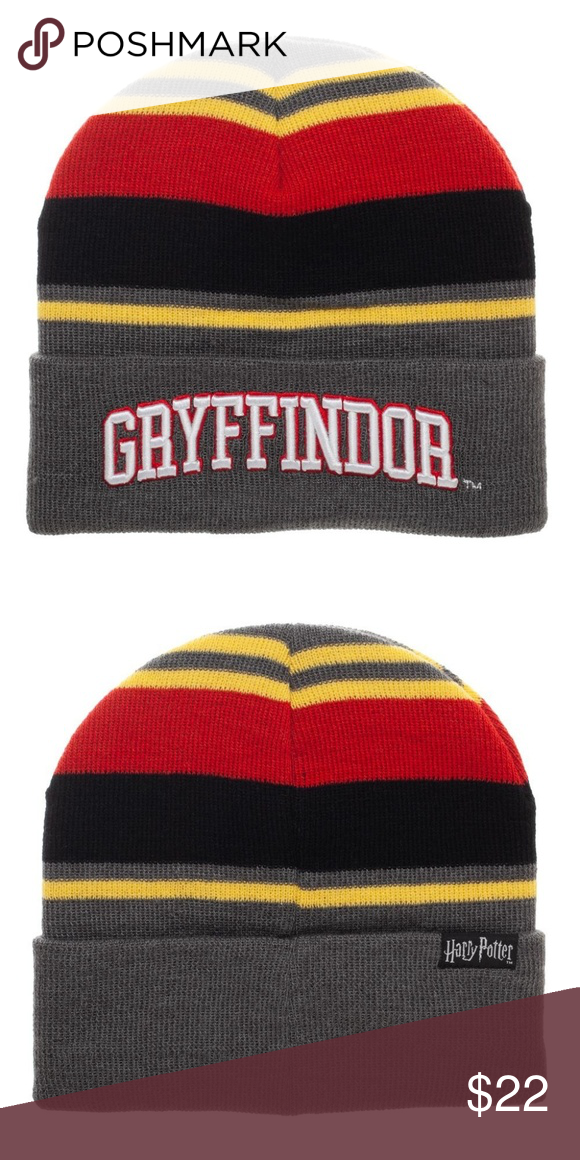9e6754325a8e6 Harry Potter Gryffindor Beanie Hat - Adult This is for 1 Harry Potter  themed beanie hat