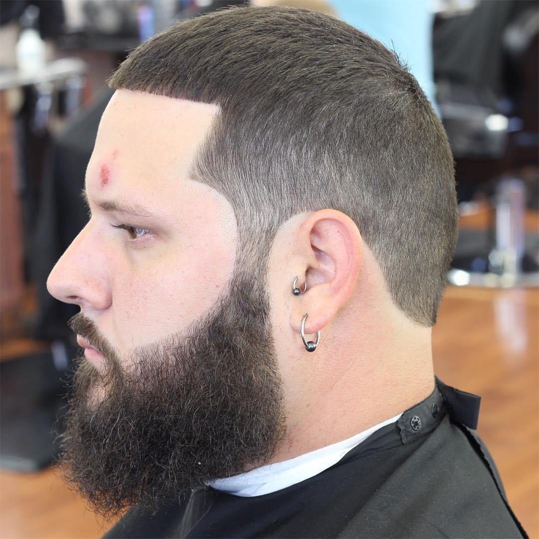 ปักพินในบอร์ด BuzzCut With Beards