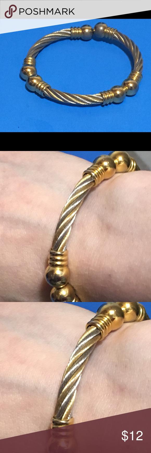 for silver and gold rope bracelet my posh picks pinterest