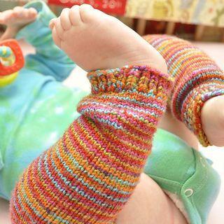 knit baby leg warmers (size 2 needles, 1 gauge yarn ...