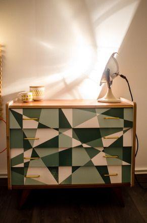 commode vintage ann es 50 r tro pied compas maison mobilier de salon meuble et deco. Black Bedroom Furniture Sets. Home Design Ideas