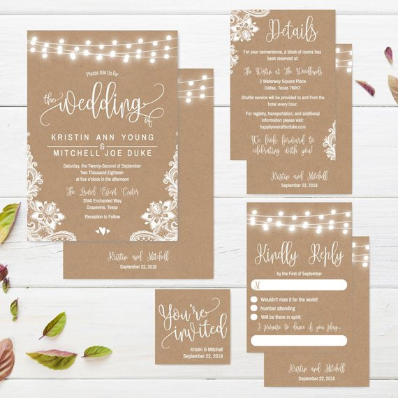 printable wedding invitations with rsvp floral wedding invitation