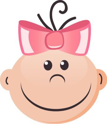 baby girl face clip art google search melodie winston rh pinterest com au Animated Smiley Face Clip Art Thinking Smiley Face Clip Art