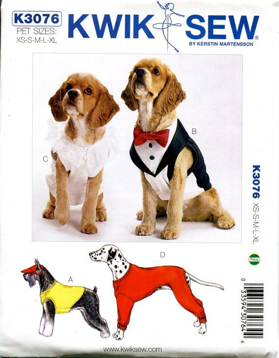 DOG COAT Pattern XS Small Med Lrg X-large by Des… | MASCOTAS A LA ...