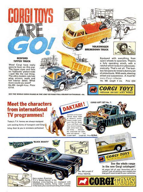 Corgi Ads 1967 by combomphotos, via Flickr