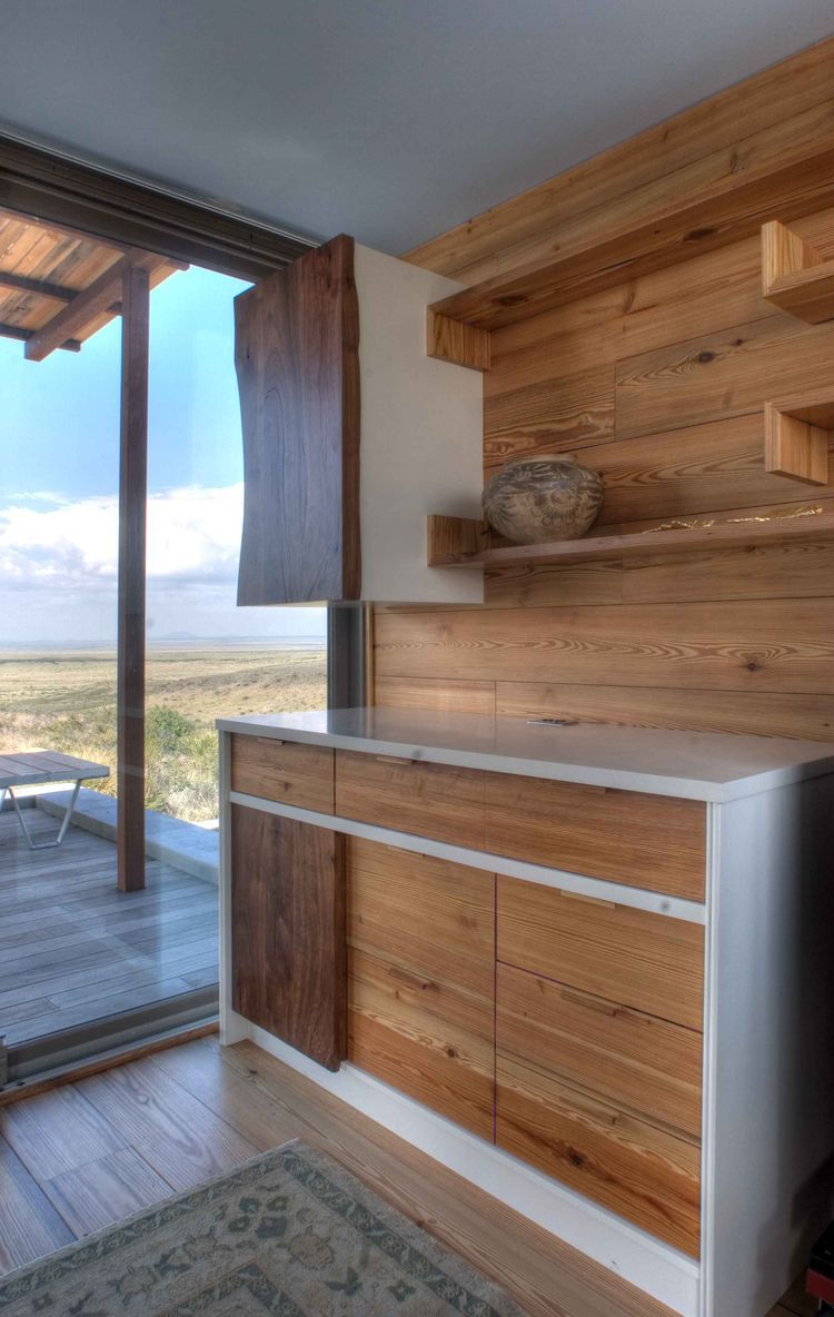 Marfa Weehouse Kitchen Cabinets Prefab Small House Design