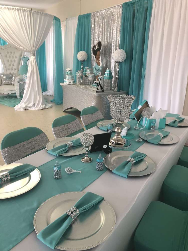 Baby Co Theme Tiffany Co Baby Shower Party Ideas In 2019