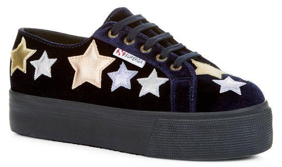 fed494db3ce0a 2790 velvet stars | Shoes I need | Superga, Flatform trainers ...