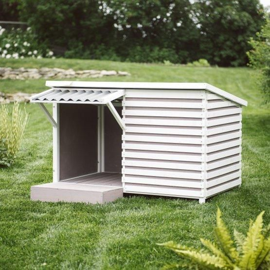 Gray Shingle Roof House Modern Dog Houses Outdoor Dog House Large Dog House