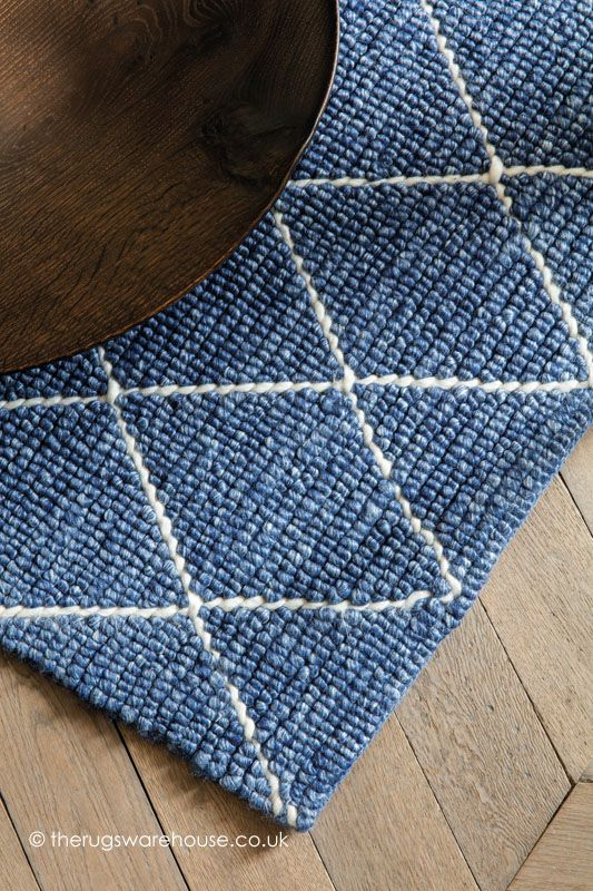 Riverstone Blue Rug Rugs On Carpet Modern